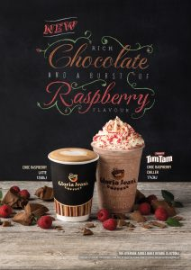 Gloria Jean's and Arnotts launch Tim Tam chocolate drink