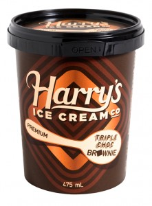Melbourne-based Harry's Ice Cream has introduced two new premium flavours to supermarket shelves, Peanut Butter Fudge and Triple Choc Brownies.