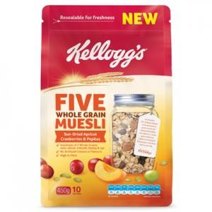 Kellogg's launches new Five Whole Grain Muesli