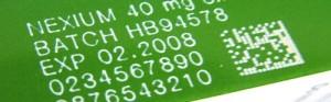 Laser Matthews 2D code and text