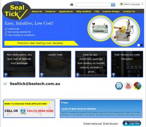 Sealtick homepage