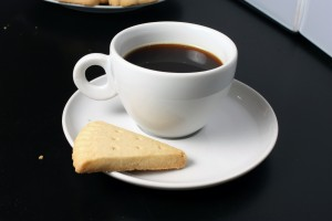 coffee and biscuit free stock image